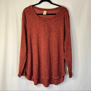 Faded Glory lightweight rust color sweater 2X